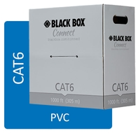 Câble CAT6 UTP 250 MHz en bobine, solide, PVC, Black Box Connect