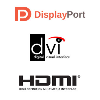 Interfaces vidéo - DisplayPort, DVI, HDMI.
