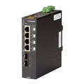 Gigabit Ethernet (1000-Mbps) PoE++ Industrial Network Switch - (4) 10/100/1000-Mbps Copper RJ-45, (2) 100/1000-Mbps SFP, Extreme Temperature